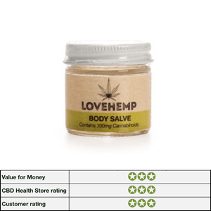 Love Hemp Extracted Body Salve 300mg CBD - 50ml