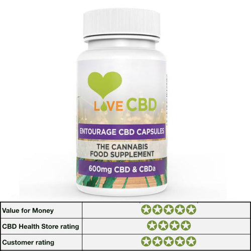 CBD Capsules - Love CBD 600mg Entourage Caps - 60 caps