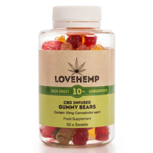 Love Hemp CBD Gummy Bears - 50 Bears