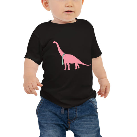 Dino Goes Pink Baby Jersey Short Sleeve Tee