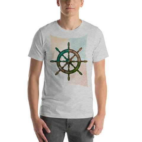 """Captain's Wheel"" Tee- Local Artist Design"