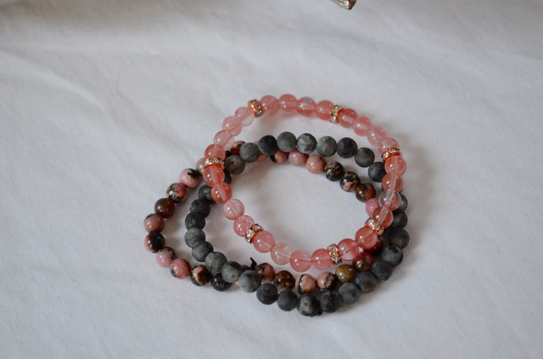 Tiny Bead Stack - Pink Panther