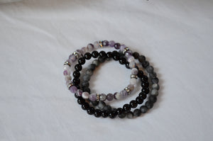 Tiny Bead Stack - Purple Haven