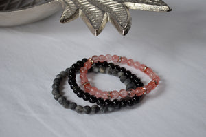 Tiny Bead Stack - Pink Moon