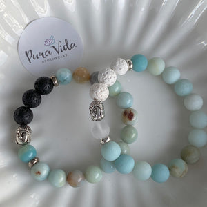 Amazonite Buddha Bracelet | 10MM