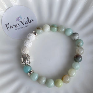 Amazonite Buddha Bracelet | 8MM