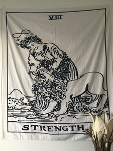 Strength Tarot Tapestry