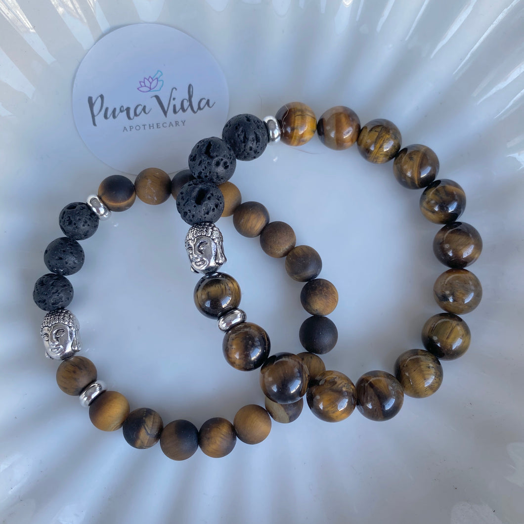 Tiger's Eye Buddha Bracelet | 8MM