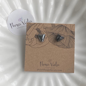Black Tourmaline & Hematite Earrings