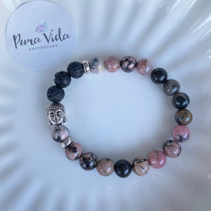 Rhodonite Buddha Bracelet | 8MM
