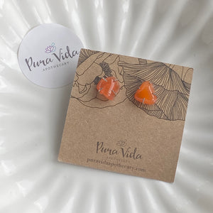 Carnelian Claw Earrings | One-Of-A-Kind