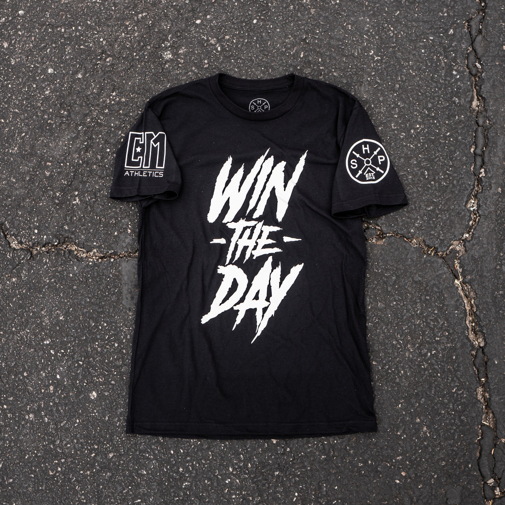 "SHP x Champion Mindset's ""Win The Day"" Shirt Black"