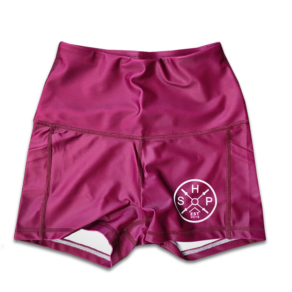 SHP Women's Shorts Maroon (All Sizes)