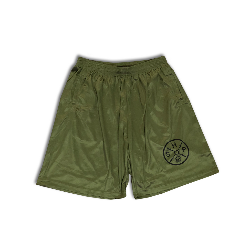 Basketball Shorts OD Green (Size Small)