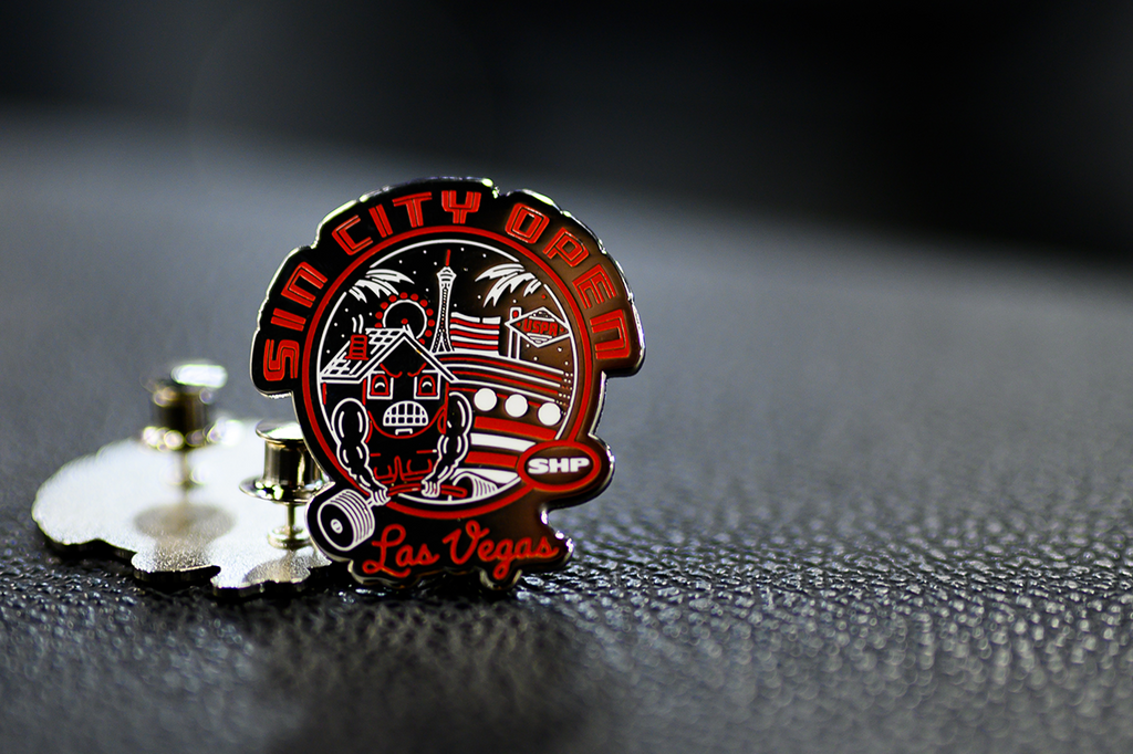 Sin City Open Enamel Pin