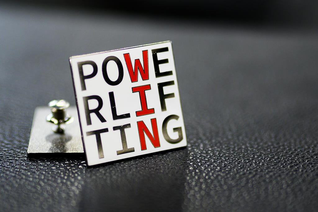 Powerlifting WIN Enamel Pin