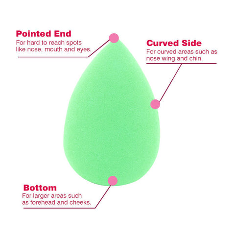 Stay Quirky Blender, Make Up Perfector Sponge, Blend Her, Drop Shape - Green