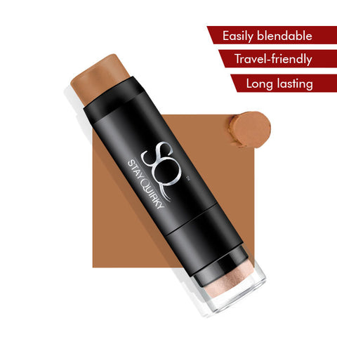 Stay Quirky Foundation Concealer Contour Color Corrector Stick, For Dark Skin - Clothed Intercourse 7 (6.5 g)