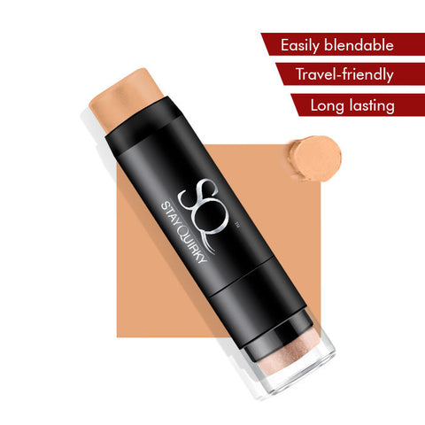 Stay Quirky Foundation Concealer Contour Color Corrector Stick - Don't Kiss and Tell 2 (6.5 g)