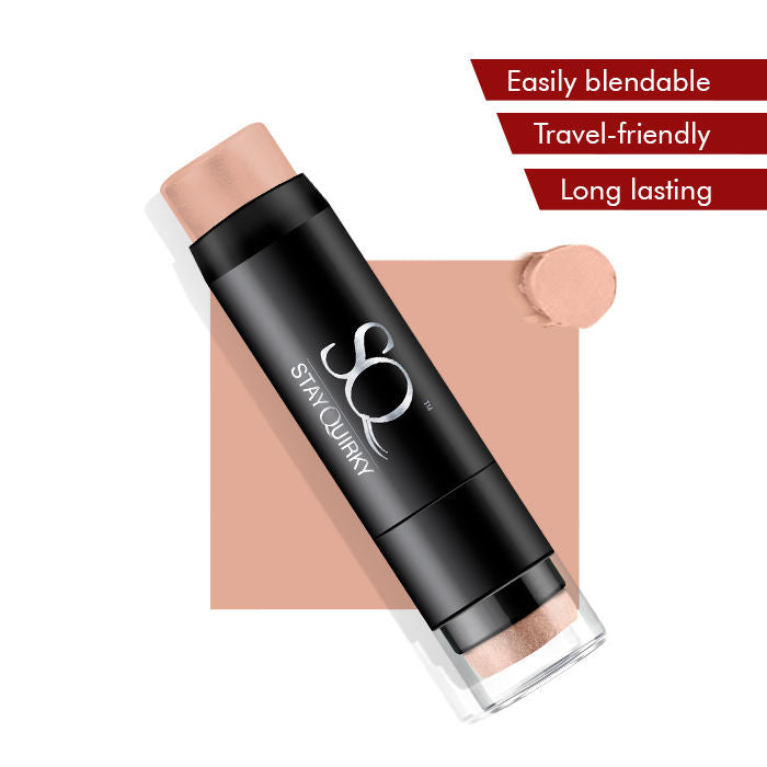 Stay Quirky Foundation Concealer Contour Color Corrector Stick, For Fair Skin - Footsie Under the Table 1 (6.5 g)