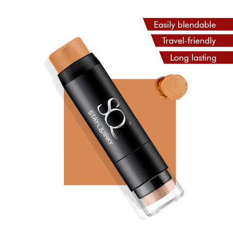 Stay Quirky Foundation Concealer Contour Color Corrector Stick, For Wheatish Skin - Under the Blanket 5 (6.5 g)
