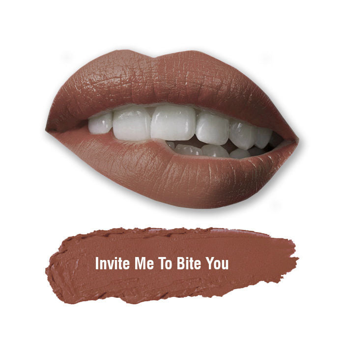 Stay Quirky Lipstick, Soft Matte, Nude, Badass - Invite Me To Bite You 52