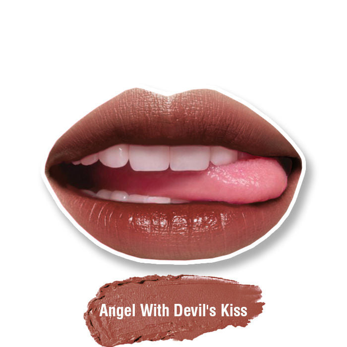 Stay Quirky Lipstick, Soft Matte, Nude, Badass - Angel With Devil's Kiss 7 (4.2 g)