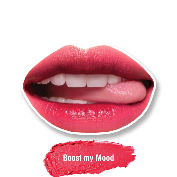 Stay Quirky Lipstick, Soft Matte, Pink, Badass - Boost My Mood 21 (4.2 g)