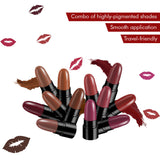Stay Quirky Lipstick Soft Matte Minis - I Want Your Lips, Set of 12 Mini Lipsticks, Kit 8 (14.4 g)
