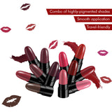 Stay Quirky Lipstick Soft Matte Minis - Kiss My Lips And Take Wine Sips, Set of 12 Mini Lipsticks, Kit 7 (14.4 g)