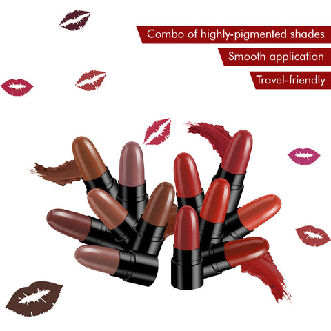 Stay Quirky Lipstick Soft Matte Minis - My Kisses Are The Bullets, Set of 12 Mini Lipsticks, Kit 3 (14.4 g)