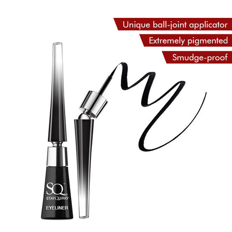 Stay Quirky Liquid Eyeliner, With Unique Ball-Joint Applicator, Black - Your Darkest Fantasies 1 (6.5 ml)