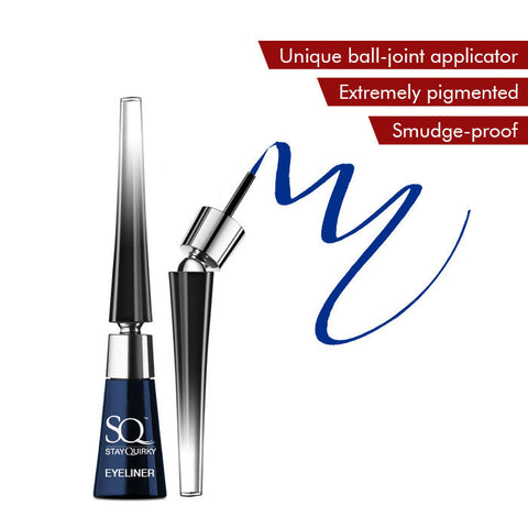 Stay Quirky Liquid Eyeliner, With Unique Ball-Joint Applicator, Blue - Beach Please 2 (6.5 ml)