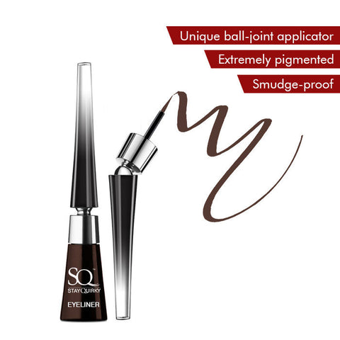 Stay Quirky Liquid Eyeliner, With Unique Ball-Joint Applicator, Brown - Smokin' Like A Rockstar 4 (6.5 ml)