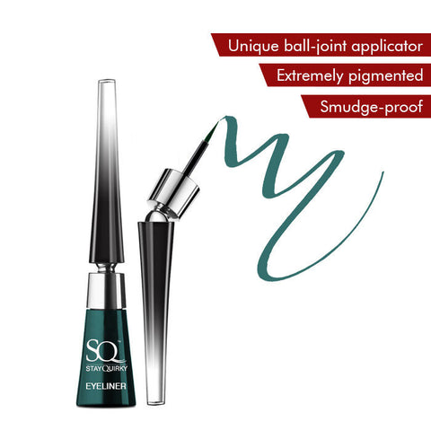 Stay Quirky Liquid Eyeliner, With Unique Ball-Joint Applicator, Bottle Green - Thundering Moves 5 (6.5 ml)