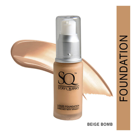 Stay Quirky Daily Wear Liquid Foundation, Beige Bomb 7