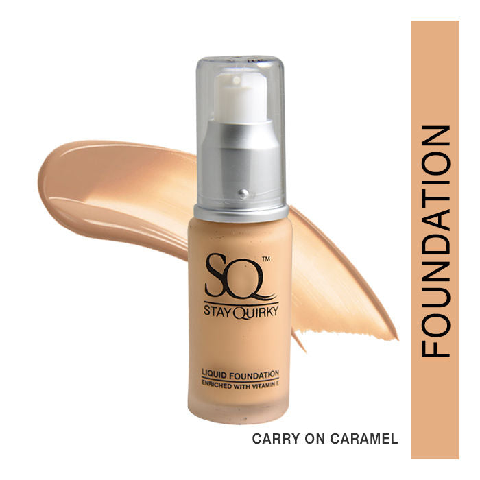 Stay Quirky Daily Wear Liquid Foundation, Carry on Caramel 3