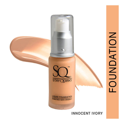Stay Quirky Daily Wear Liquid Foundation, Innocent Ivory 4