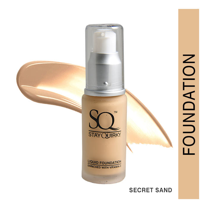 Stay Quirky Daily Wear Liquid Foundation, Secret Sand 1