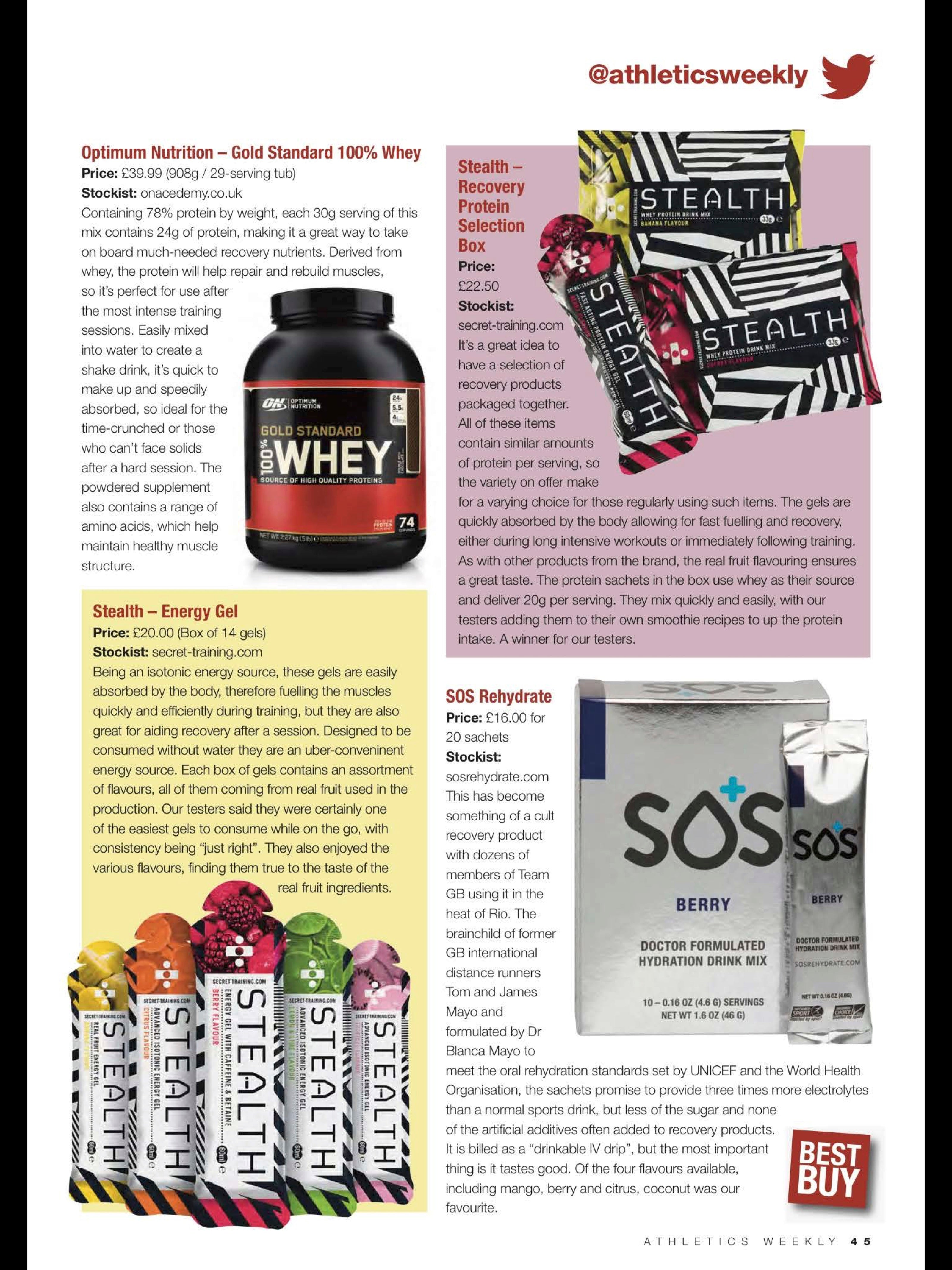athletics weekly sports nutrition