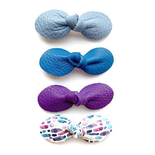 Load image into Gallery viewer, Spring Bow 4-Packs (Blues - Purple)
