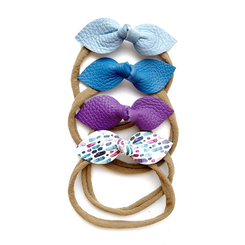 Spring Bow 4-Packs (Blues - Purple)