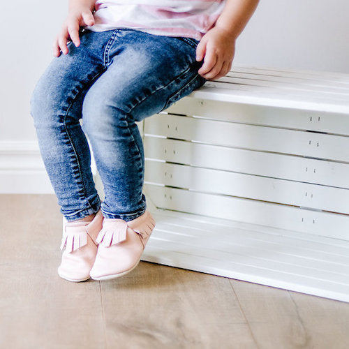 Blush & Cream Fringe Mocs