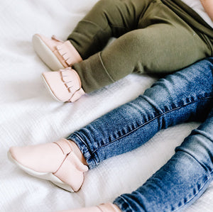 Blush & Cream Loafer Mocs
