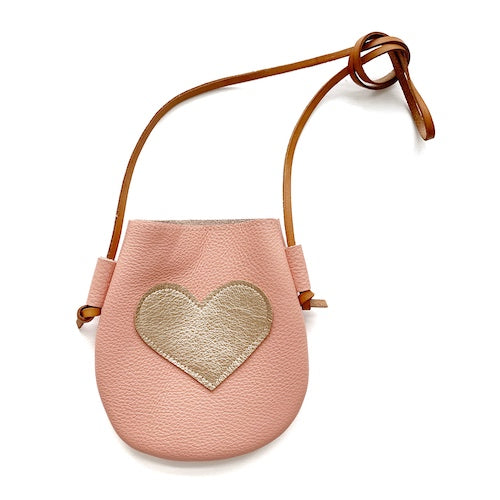 Coral/Rose Gold Heart Purse
