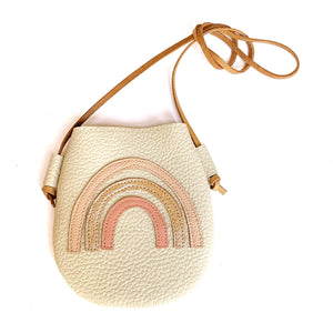 Cream Rainbow Purse