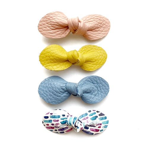Spring Bow 4-Packs (Pink-Yellow)