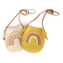 Load image into Gallery viewer, Cream Rainbow Purse