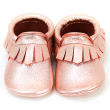Load image into Gallery viewer, Rose Gold Fringe Mocs