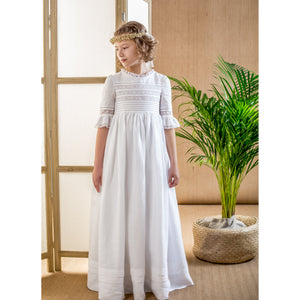 Ruffled Communion Dress